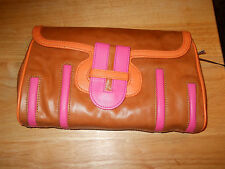 KATE LANDRY FABULOUS COLOR BLOCK CLUTCH IN BEAUTIFUL PCV LEATHER (Medium)