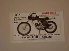advertising Pubblicità 1975 MOTO GORI JC 5 50