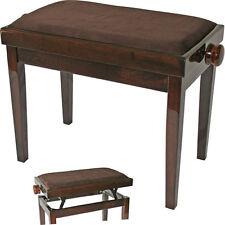 Gepolsterte Klavierbank, höhenverstellbar, Cordbezug, für Piano Flügel Keyboard