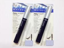 maybelline full'n soft mascara volume+care 305 soft  black pack of 2