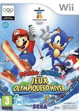 Mario Et Sonic Aux Jeux Olympiques D'Hiver pour Nintendo Wii En Bon État FR