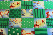 Cotton Quilting Fabric #1359 FreeSpirit Christmas Snowman by the Yard