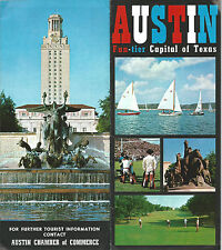 Austin Texas 1960s Brochure Color  Photos Keyed Points of Interest Map LBJ Ranch