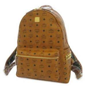 MCM Stark backpack PVC Coated Canvas/Leather Brown MMK AAVE09