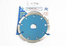 Quantità di 5 x 115mm diamante taglio disco adatto per piastrelle, muratura in mattoni +