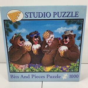 Studio Puzzle Bits And Pieces 1000 Piece Suds N Buds Jeffrey Severn Bears Beer