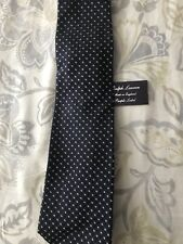 Blue, Black And Gold Ralph Lauren Purple Label Tie