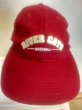 SACRAMENTO RIVER CATS BASEBALL TEAM MLB PCL MINOR LEAGUE HAT RED STRAPBACK NICE!