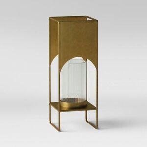 "PROJECT 62 Iron  Modern Brass Candle Holder   Brass Estate Size 30"" x 9.5""   🆕"
