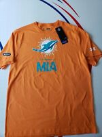 NWT UNDER ARMOUR Miami Dolphins NFL Combine Heat Gear Dri Fit T-Shirt  size M