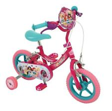 "Disney Princess Girls 12"" Bike Kids First Bicycle 1 Speed Purple w/ Stabilisers"