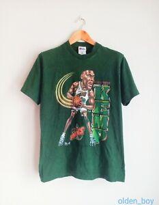 Rare Vintage Shawn Kemp caricature 90's t-shirt NBA basketball