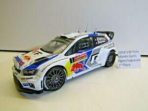 IXO 1:43 Scale Die-cast 2014 VW Polo Monte Carlo Rally Ogier / Ingrassia 1st Pos