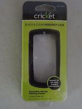 Cricket Wireless TXTM8 3G Black & Clear Designer Case SKU CTP540 Brand New