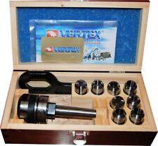 Vertex 8 pc 2 MT Imp & Met Posilock Milling Collet Chuck 2 Morse Taper