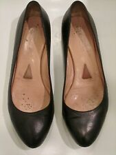 JIL SANDER Black Leather Classic Ballerina Flats Slip-On Shoes Barneys 38 8