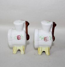 """Whimsical Vintage Porcelain """"COFFEE GRINDERS"""" Salt & Pepper Shakers Japan"""