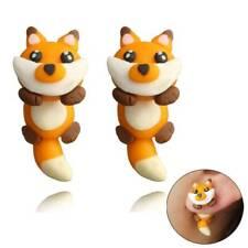 1Pair Cute Jewelry Animal Lovely Polymer Clay Fox Earrings 3D Cartoon Ear Stud