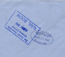 BR110 1960 GB wildings POSTA MARITTIMA CUNARD Steamer TIMBRI {2} COPERTINA Montreal