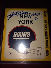 Y.A. Tittle New York Giants & San Francisco 49ers NFL football auto autograph YA