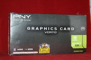 PNY Verto NVIDIA GeForce GT 630 2GB DDR3, PCI Express Graphics Card VCGGT6302XPB