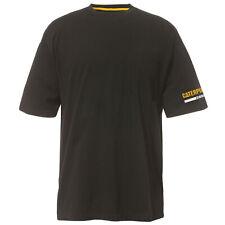 CAT Caterpillar Kurzarm Shirt T-Shirt Essential Tee schwarz mit Logo