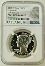 2018-W 1 Oz Proof Palladium American Eagle PF-69 NGC Ultra Cameo (Early Release)
