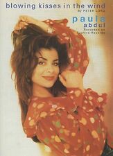 """PAULA ABDUL """"BLOWING KISSES IN"""" PIANO/VOCAL/GUITAR SHEET MUSIC RARE 1991 ON SALE"""