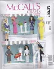 """McCALL'S SEWING PATTERN CRAFT CLOTHES ACCESSORIES FOR 11 1/2"""" DOLL  M7067"""