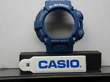 Casio Watch Parts G-9000 MX-2 blue Bezel/Shell W/Black Push Pads White Letter
