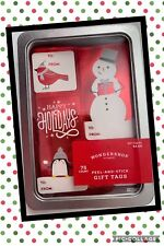 75 Count Gift Tags Christmas Present Wondershop Peel and stick New in a Tin