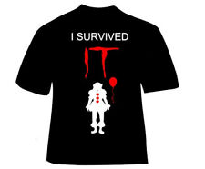 IT t-shirt, I survived IT, Pennywise, Clown, Stephen King, S,M,L,XL