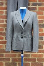 ladies suit from oasis, lined jacket and trousers grey tailored smart formal