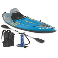 One Person Kayak Inflatable K1 Quikpak Coverless Sit-on-top Backpack Paddle Pump