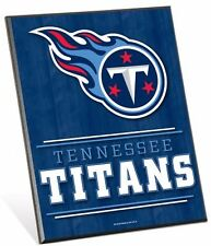 """NFL Tennessee Titans Logo Premium 8"""" x 10"""" Solid Wood Easel Sign - SALE"""