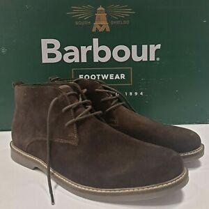 Barbour Mens Consett Chukka Suede Boots Brown UK 8 EU 42 EX-DISPLAY RRP £119.00