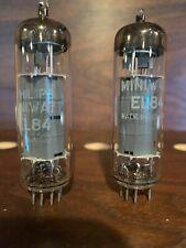 Pair Philips/Amperex Holland EL84/6BQ5 0-Getter Rx4 GM & Voltage Matched