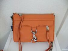 AUTH Rebecca Minkoff Min MAC Leather Convertible Crossbody Bag in Coral NWT