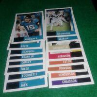 2020 Score Jacksonville Jaguars Team Set, James Robinson RC 16 cards 6 RC