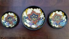 3 LOVELY RARE MINIATURE REGINA ROSARIO GOUDA HOLLAND DUTCH POTTERY PLATES DISHES