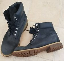 MEN'S NAVY TIMBERLAND 6 INCH BOOTS  ~  SIZE UK 10  ~  EU 44.5
