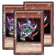 3x SASUKE MAESTRO NINJA (Ninja Grandmaster Sasuke) • Comune • BP02 IT029 Yugioh!