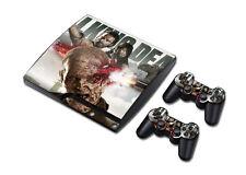 PS3 Slim Playstation 3 Console Skin Decal Sticker The Walking Dead Custom Design