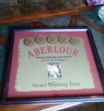 "Aberlour Scotch Wiskey ""GOLD AWARD WINNING"" Advertising Mirror Dated 2000"