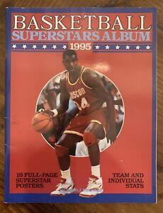 1995 NBA Superstars Album * 16 Star Posters (8x 10) *Shaq* *Barkley* *Ewing*