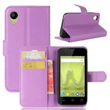 Cover Wallet Premium Purple for Wiko Sunny 2 Case Pouch Protective Accessories