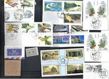 China Prc Special Cancels 23 Stamps On 8 Cut Squares Plus 3 Items 1989 - 1997