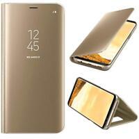 Housse Etui, coque à clapet miroir translucide  Or pour Samsung Galaxy A3/2017