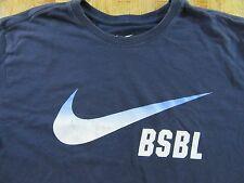NIKE BSBL Baseball Swoosh Cotton T Shirt Size L