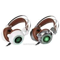 3.5mm Gaming Headset Mic LED Headphones Earphones Stereo Surround for PC Laptop